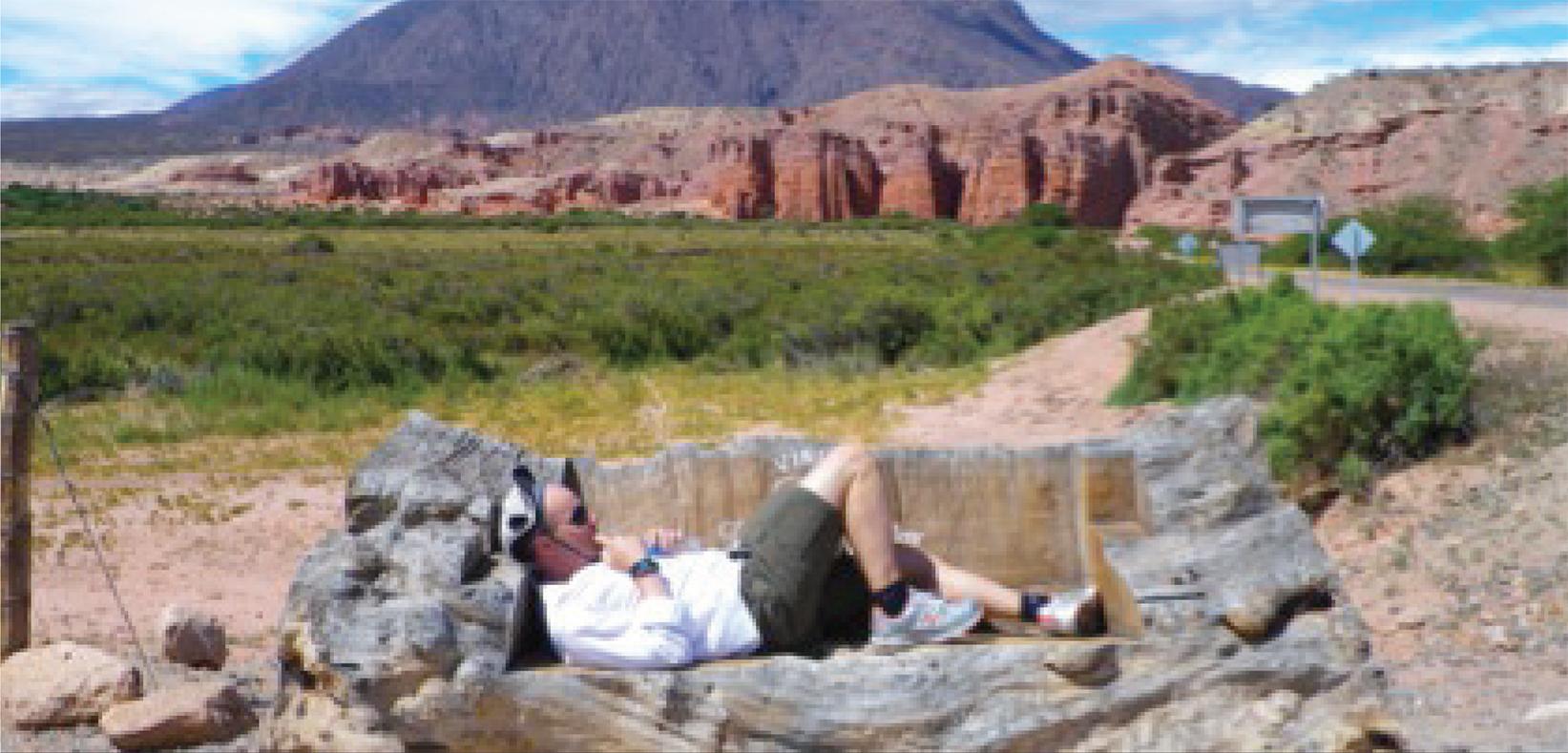 Argentina la Quebrada de las Conchas and Michael