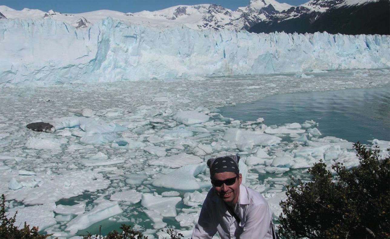Argentina Perito Moreno glacier and Michael