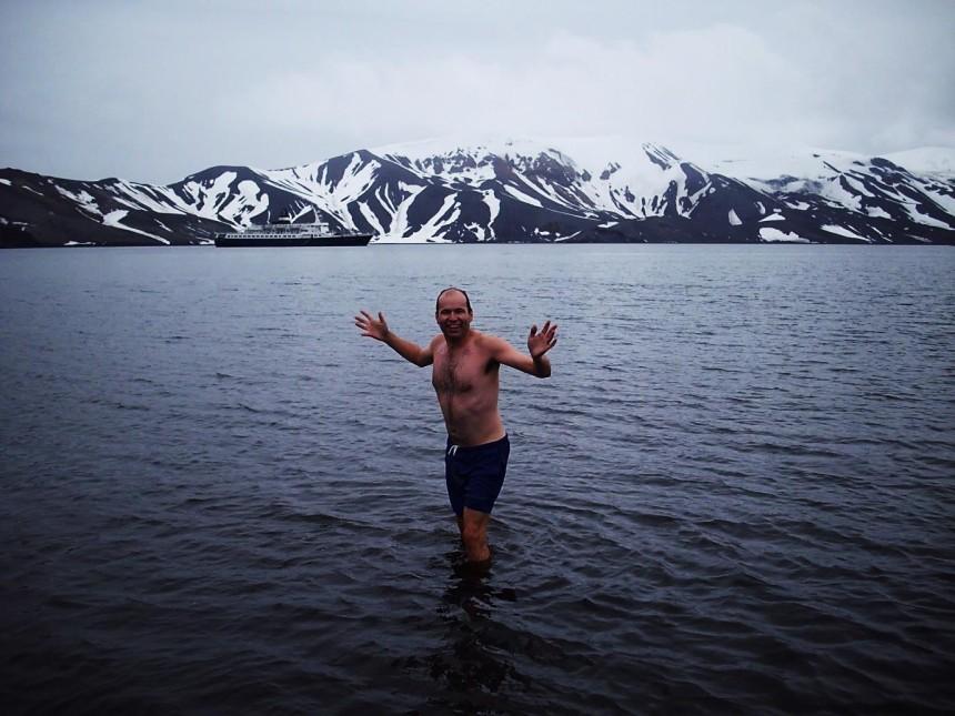 antarctica deception island polar plunge 1