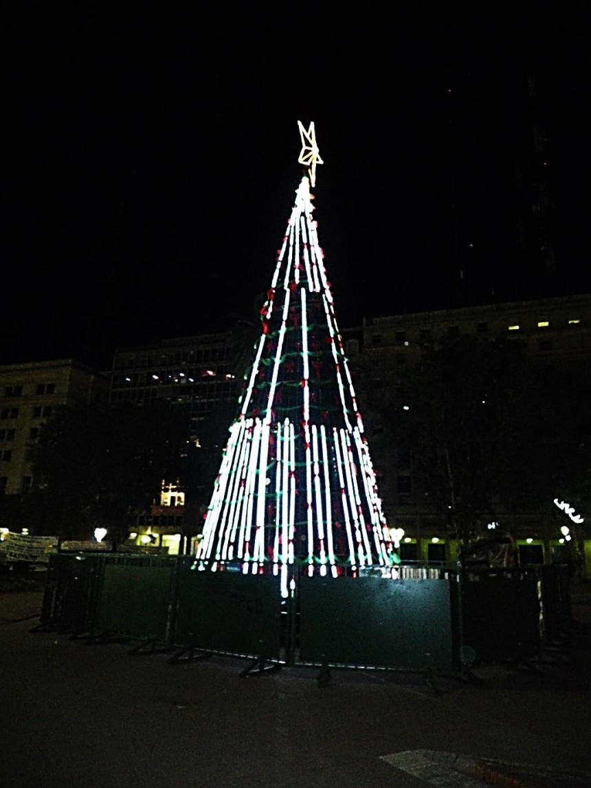 argentina buenos aires christmas tree night