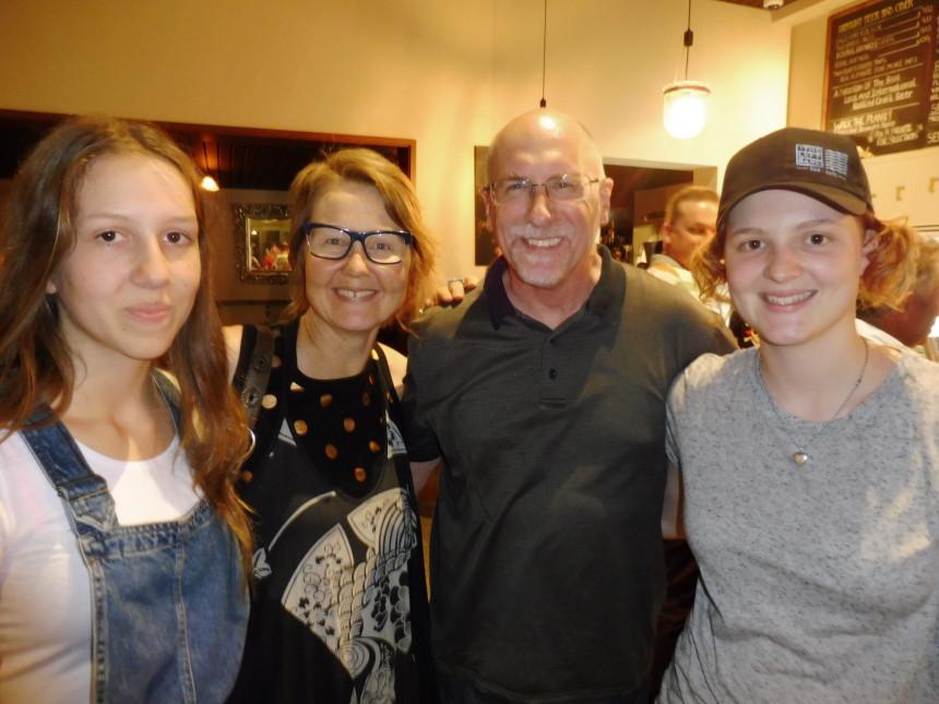 Charlotte, Moira, Stephen and Zoe