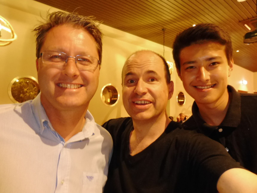 Bruce, Julian and me