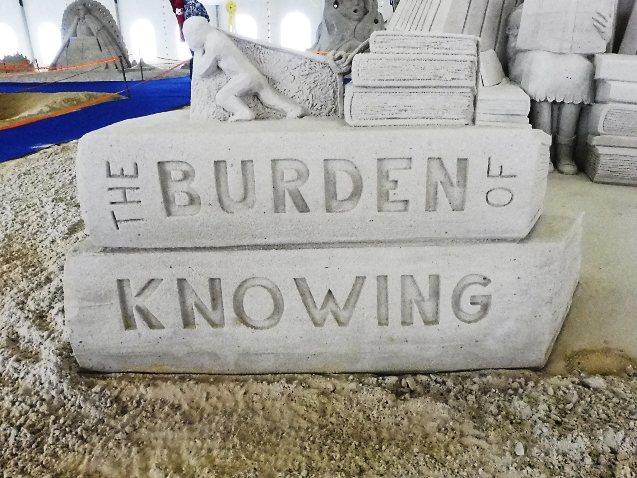 USA virginia beach the burden of knowing - close up