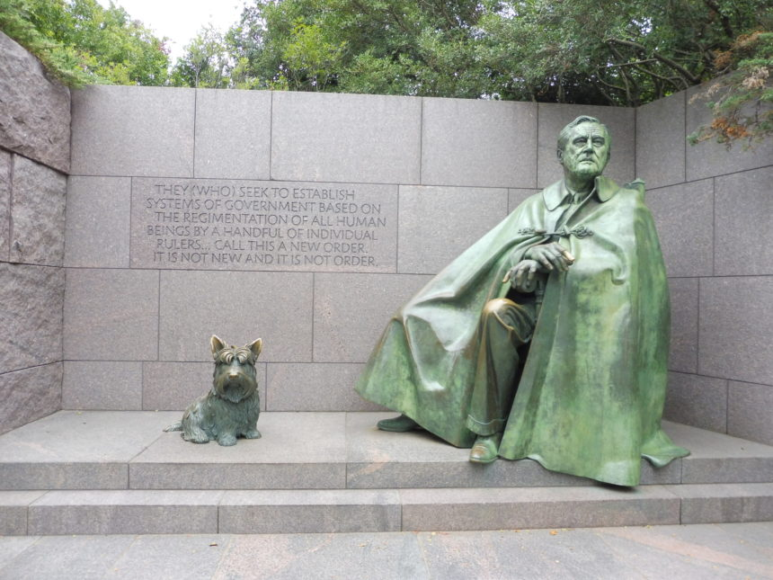 FDR memorial - FDR and dog