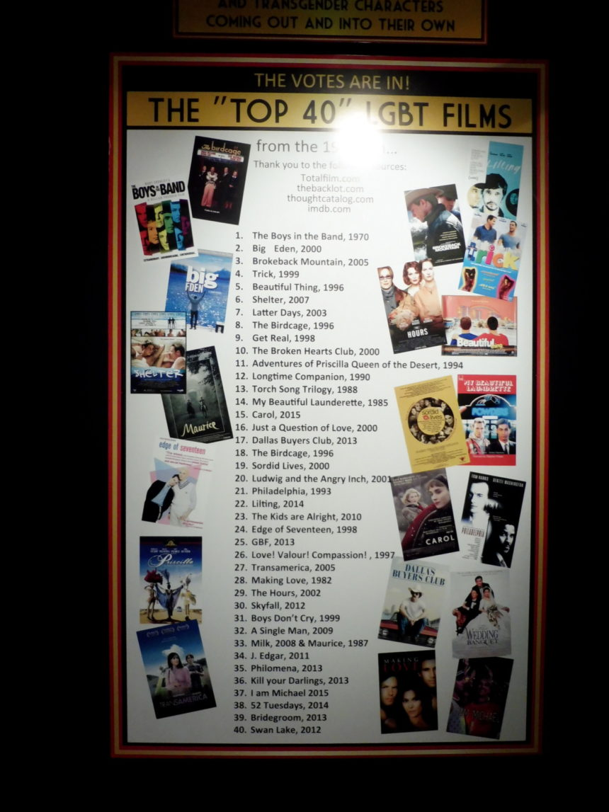 USA Hollywood Museum - The top 40 LGBT films - general