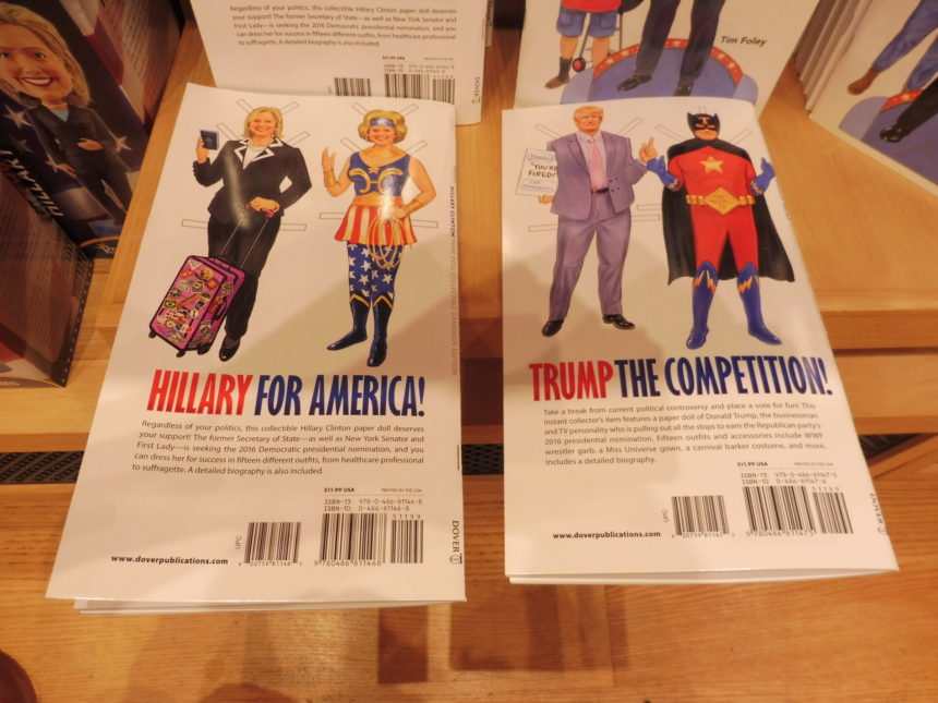 DONALD AND HILARY FIGHT IT OUT IN WASHINGTON DC GIFT SHOPS ...