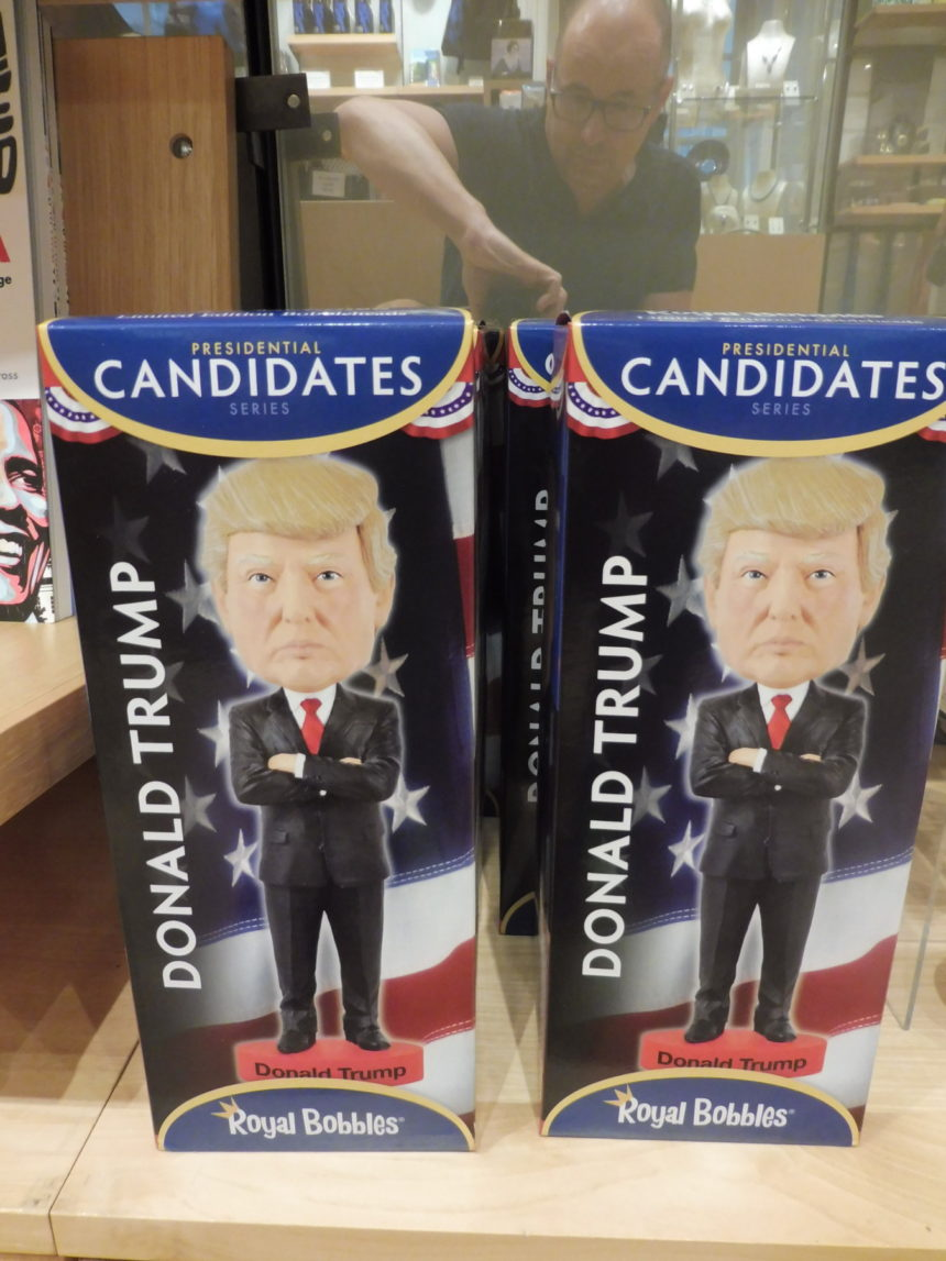 USA DC National Portrait Gallery gift shop - D Trump dolls and me