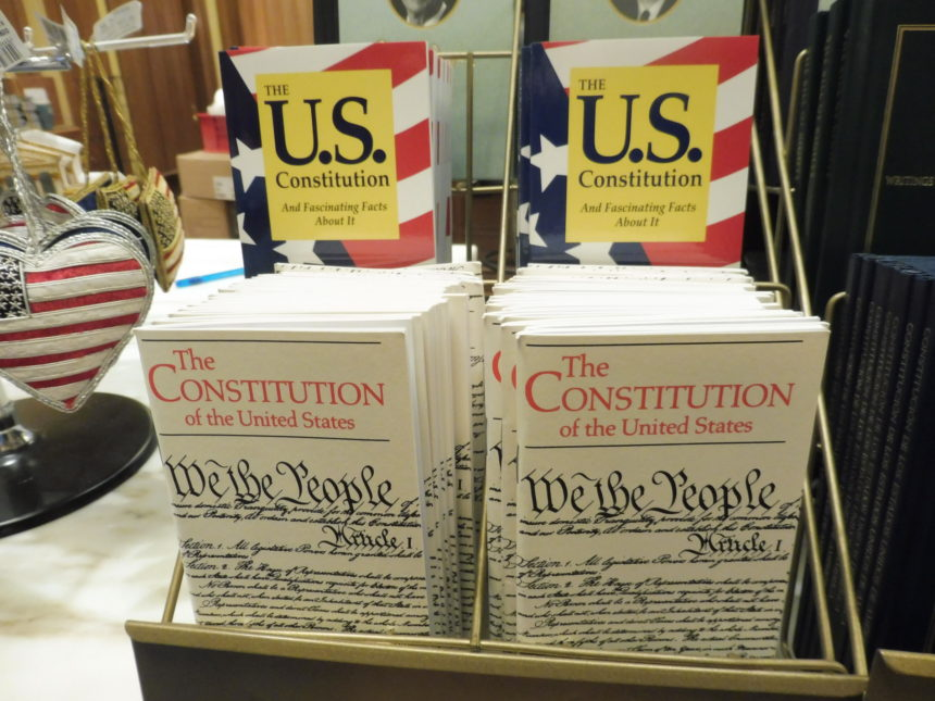 US DC Supreme Court gift shop - US constitution