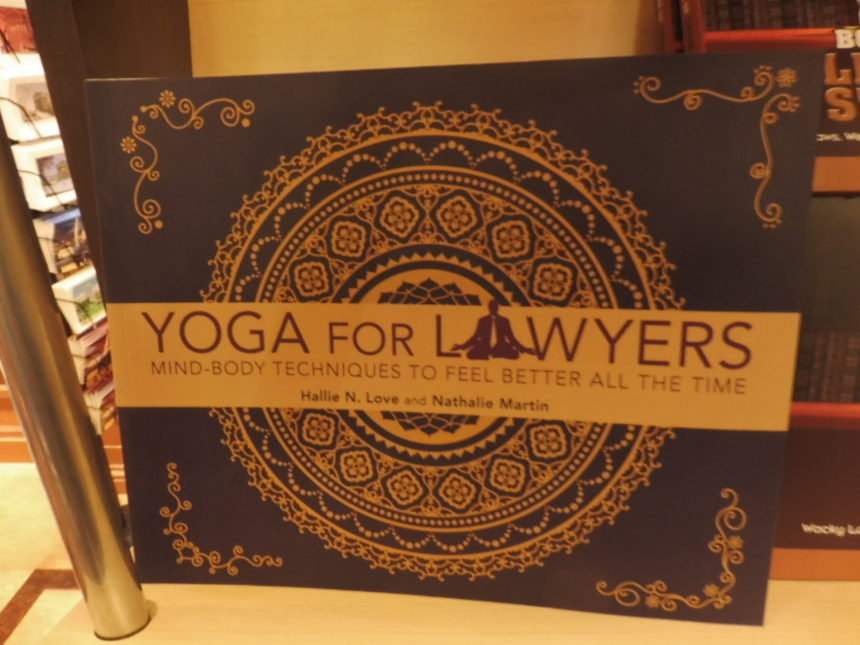 US DC Supreme Court gift shop - Yoga for lawyers