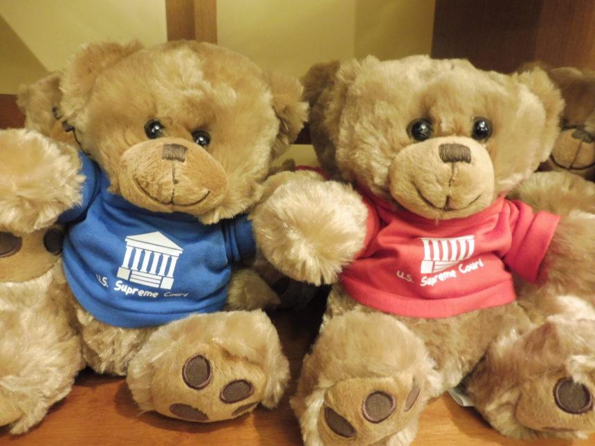 US DC Supreme Court gift shop - teddy bears