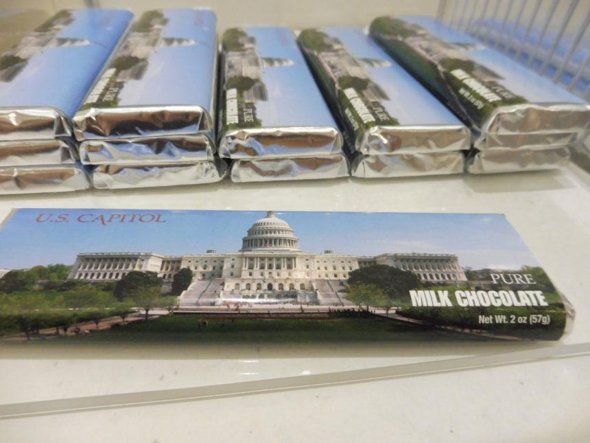 USA DC Congress gift shop - chocolate bars
