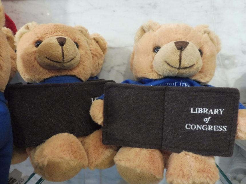 USA DC Library of Congress gift shop - teddy bears