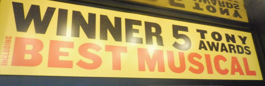 USA New York Fun Home ad outside theatre