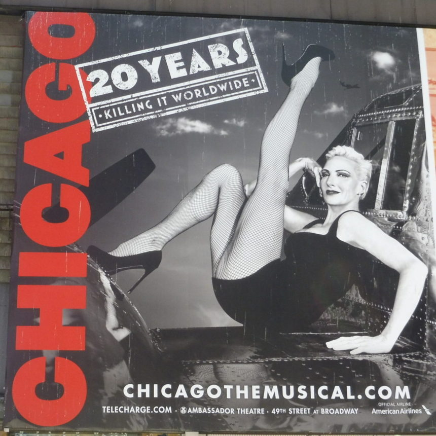 USA New York - Chicago billboard