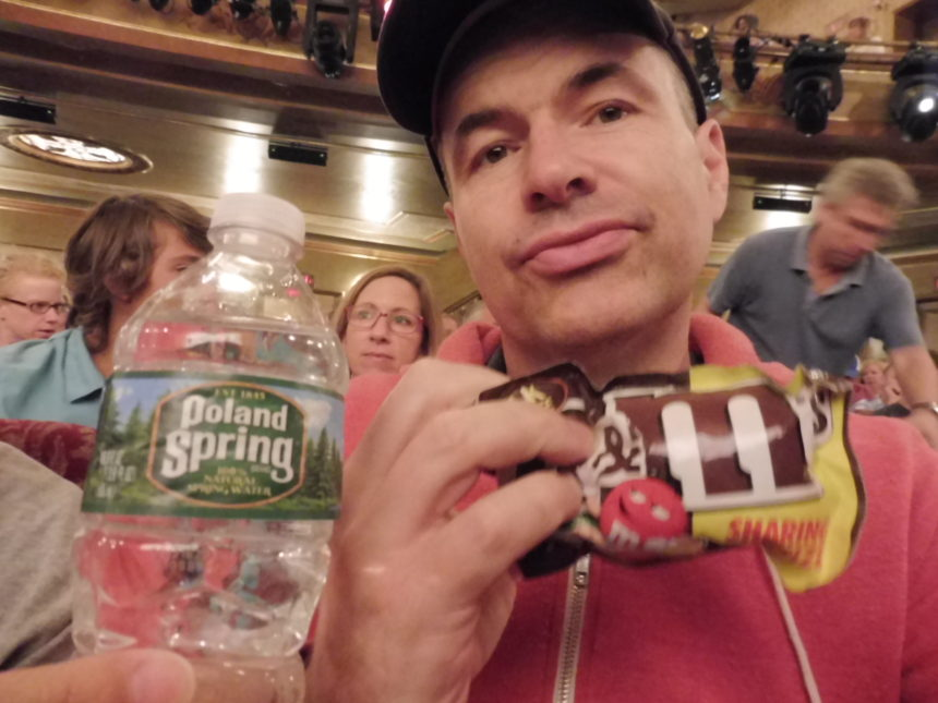 USA New York Something Rotten water M&Ms and me