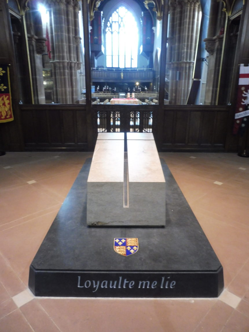England Richard III Leicester Cathedral grave and window