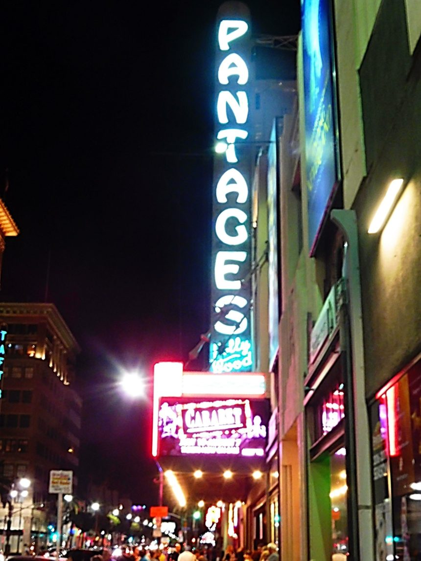 USA LA Cabaret - outside theater night