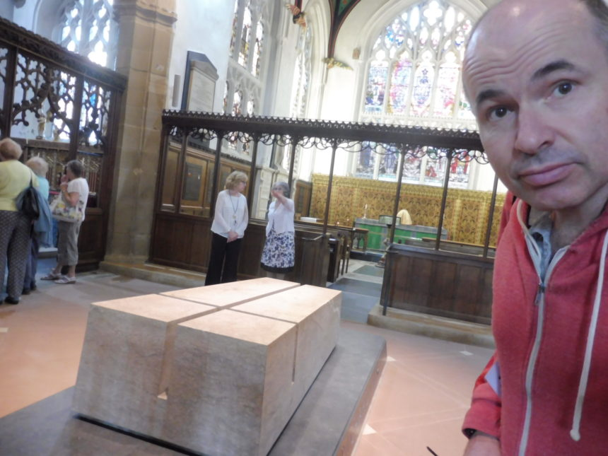 England Richard III Leicester Cathedral grave and me