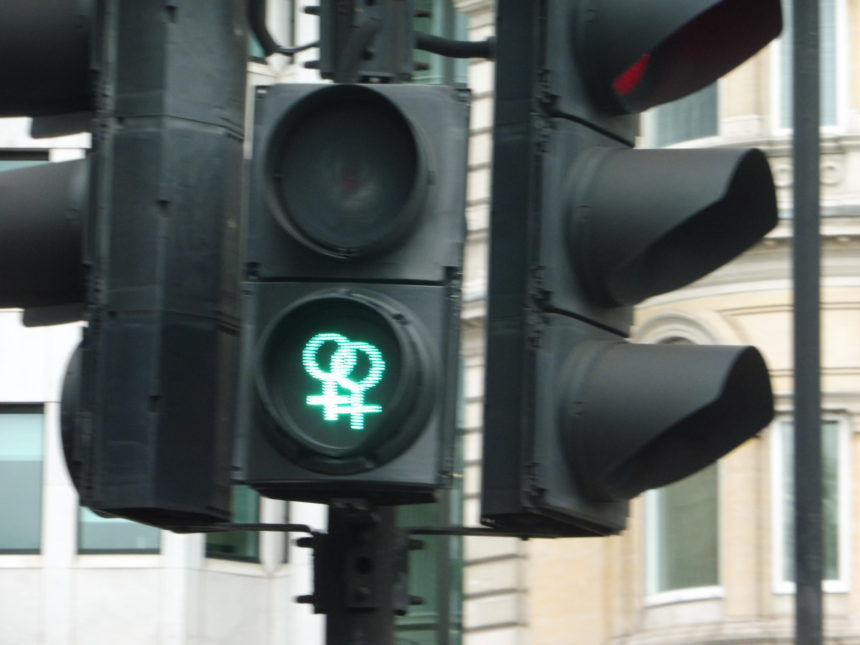 England around Trafalgar Square two women