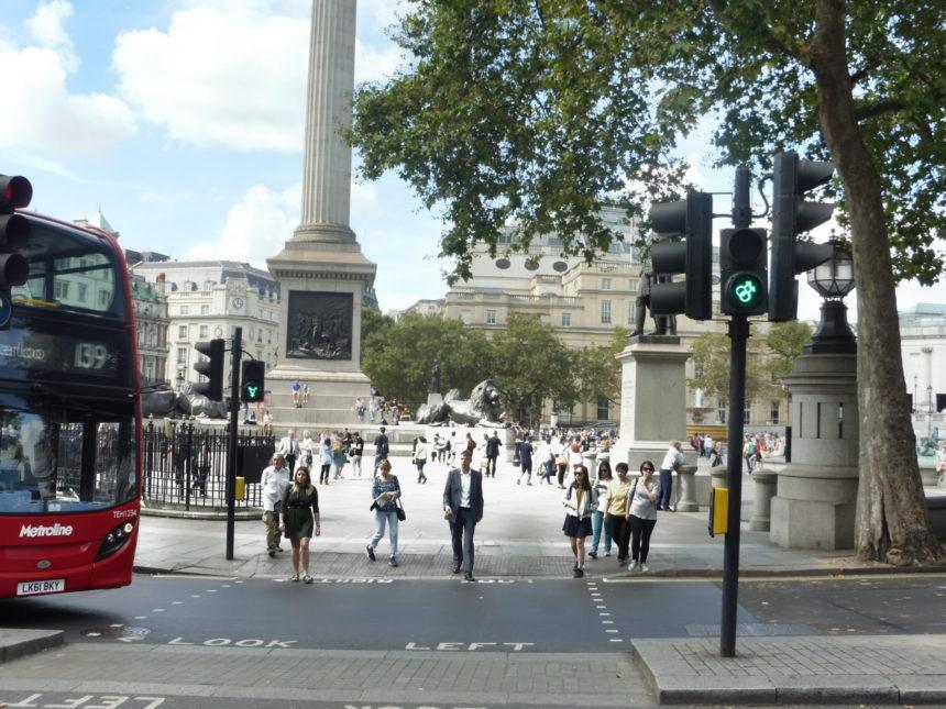 England Trafalgar Square gay traffic lights