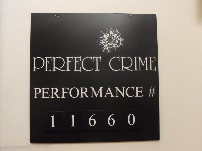 USA New York Perfect Crime sign