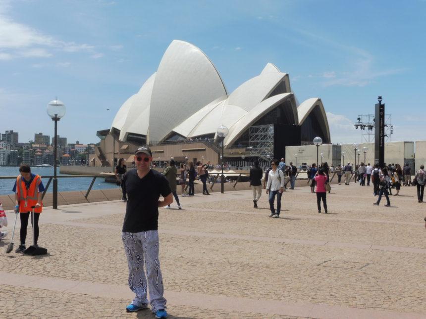 Australia - me outside Sydney Opera House 1