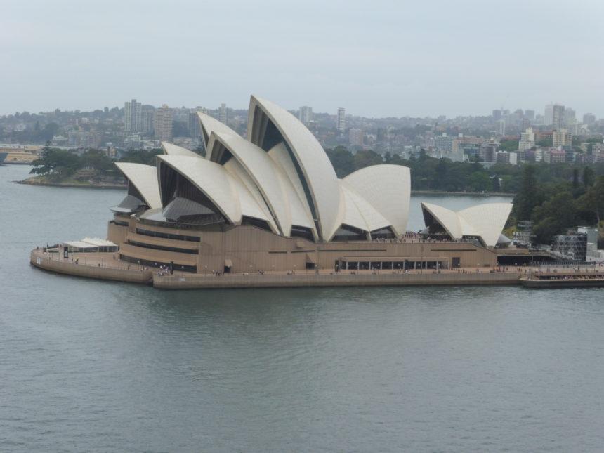 Australia Sydney Opera House from the Sydney Harbour Bridge